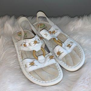 Earth Spirit white sandals 6
